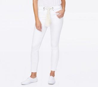 NYDJ Alina Leggings Ankle Waistband Scarf - Optic White