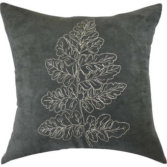 Carlton Embroidered Cotton Throw Pillow North Home