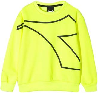 Diadora Fluo Yellow Sweatshirt