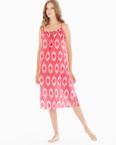 Soma Intimates Cotton Midi Nightgown Coral