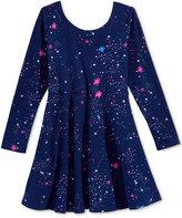 Epic Threads Long-Sleeve Cosmic-Print Skater Dress, Toddler & Little Girls (2T-6X), Only at Macy's