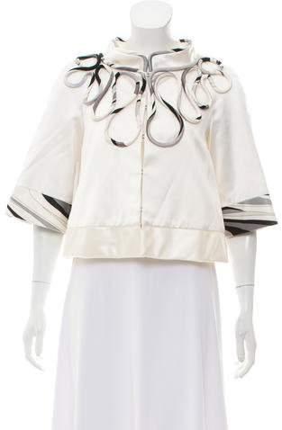 Emilio Pucci Embellished Silk-Blend Jacket
