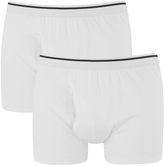 Wolsey Men's Twin Pack Keyhole Boxer Shorts White