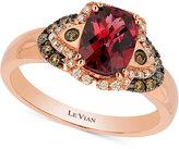 LeVian Le Vian® Raspberry Rhodolite® Garnet (1-1/2 ct. t.w.) and Diamond (1/5 ct. t.w.) Ring in 14k Rose Gold