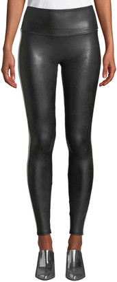 Spanx Faux-Leather Side-Stripe Leggings