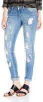 Dollhouse Women's Firestone Medium Wash Heavy Destructed Skinny Jean