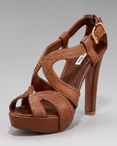 Napa Washed Peep-Toe Platform Sandal