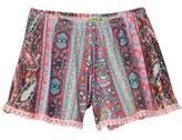 Little Mass Lotus Borders Shorts (Toddler, Little Girls, & Big Girls)