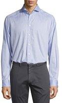 Eton Dotted Sport Shirt, Light Blue