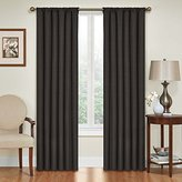 Eclipse Curtains Eclipse Kendall Blackout Thermal Curtain Panel,Black,84-Inch