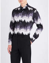 Brioni Nasdaq-printed Regular-fit Stretch-silk Shirt