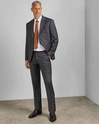 Ted Baker Tall Endurance Checked Wool Two-piece Suit