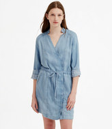 Lou & Grey Chambray Overlap Dress