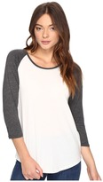 Hurley Staple Perfect Raglan Top Women's Short Sleeve Pullover