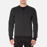 Edwin Men's Classic Crew Sweatshirt Black Vertical Stripes