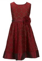 Bonnie Jean Big Girls 7-16 Patterned-Lace Fit-And-Flare Dress