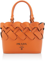 Prada Mini Woven Leather Tote