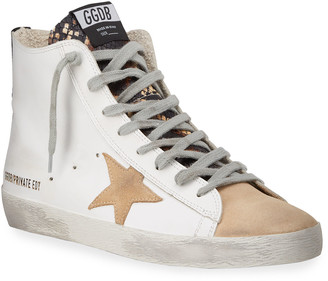 Golden Goose Francy Mixed Leather High-Top Sneakers