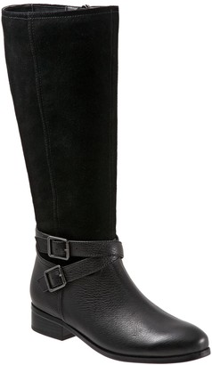 Trotters Tall Leather Wide Calf Boots - Larkin