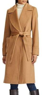 Lauren Ralph Lauren Wool Cashmere-Blend Wrap Coat