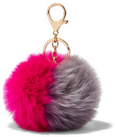 New York & Co. Colorblock Pom-Pom Keychain