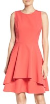Vince Camuto Women's Ruffle Fit & Flare Dress