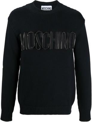 Moschino Zipper-Effect Logo Jumper