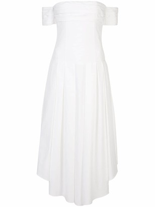 KHAITE Amanda off-the-shoulder dress