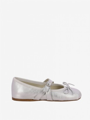Douuod Laminated Ballet Flat With Bow