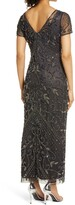 Thumbnail for your product : Pisarro Nights Beaded Mesh Column Gown