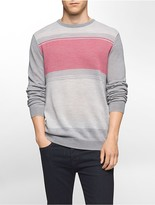Calvin Klein Colorblock Merino Blend Sweater