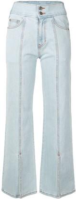 Sjyp Ankle-Slit Flared Jeans