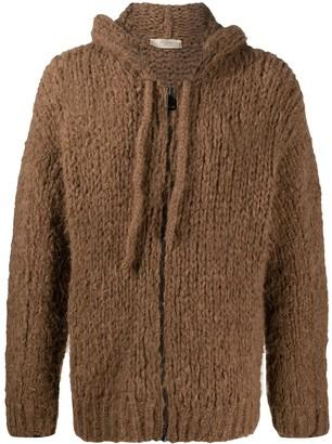 Maison Flaneur Open-Knit Wool Hoodie