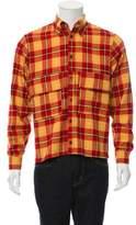 Gosha Rubchinskiy Flannel Plaid Wool Shirt