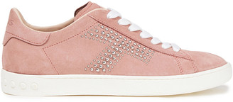 Tod's Perforated Studded Suede Sneakers