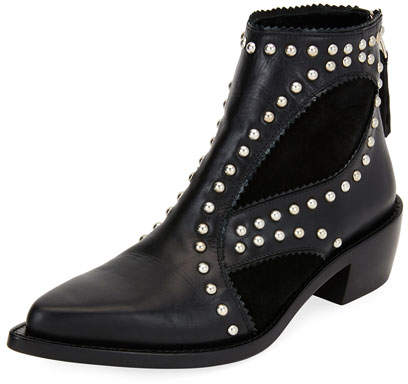 Alexander McQueen Studded Leather Ankle Boot