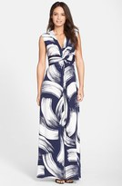 Eliza J Women's Brush Print Jersey Maxi Dress