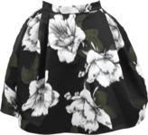 Lanvin Volume Skirt with Green Roses