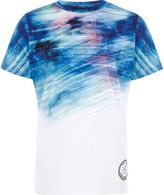 River Island Boys white geo fade print T-shirt
