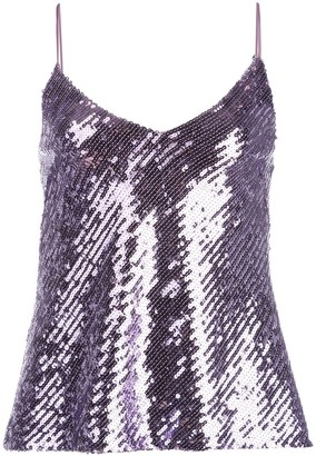Galvan Mirrored sequin camisole