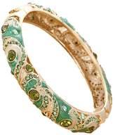 BELLESIE 18k Diamond Cloisonne Enamel Vintage Craft Jewelry Crystal Bracelet for Womens