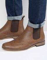 D-struct Brogue Chelsea Boots