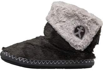 Bedroom Athletics Womens Audrey Short Faux Fur Slipper Boots Charcoal/Trace Grey