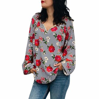 Kalorywee Women Tops KaloryWee Womens Loose Floral Tops