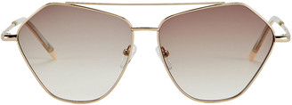 Le Specs Luxe Dweller Metal Frame Rounded Sunglasses