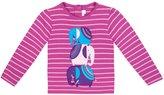 Jo-Jo JoJo Maman Bebe Elephant Top (Baby) - Raspberry/Pink Stripe-6-12 Months