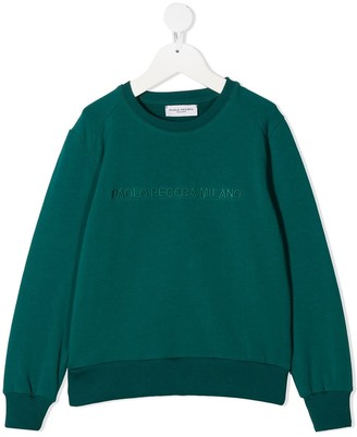 Paolo Pecora Kids Embroidered Logo Sweatshirt