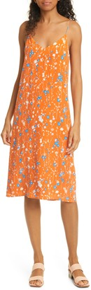Equipment Jules Floral Silk Slip Midi Dress