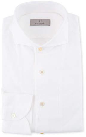 Canali Men's Pique Knit Dress Shirt