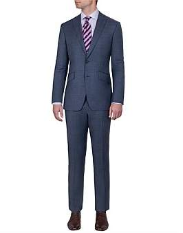 Anthony Logistics For Men Squires Brighton Suit - Blue Microdesign